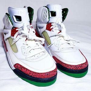 Mens Jordan Spi'zike Size 14 Green and Red